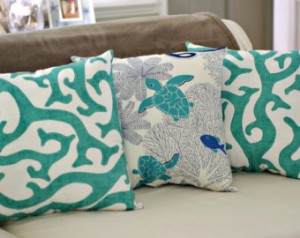 coral reef cushions etsy